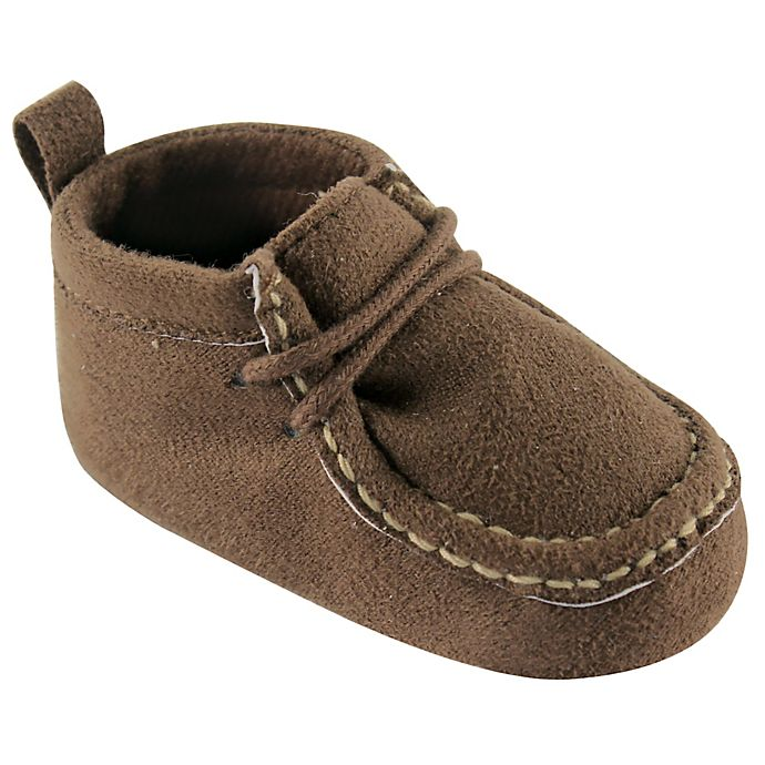 Alternate image 1 for Luvable Friends® Suede Shoe in Brown
