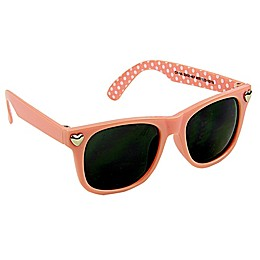 On the Verge Hearts Sunglasses in Peach