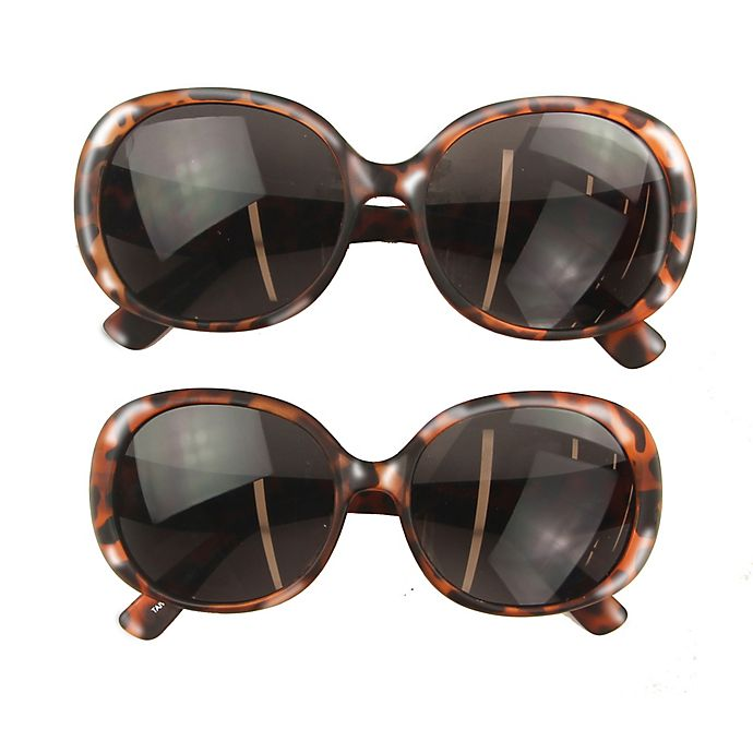 Alternate image 1 for Tiny Treasures™ 2-Piece Mommy and Me Round Sunglasses Set in Tortoise