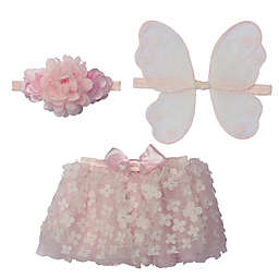 Elly & Emmy Newborn 3-Piece Tutu, Headband, and Wings Set in Pink