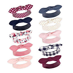 Hudson Baby® Floral One-Size 10-Pack Headbands in Pink