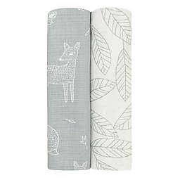 aden + anais™ essentials 2-Pack Woodsy Viscose Swaddles in Grey
