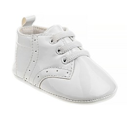 Joseph Allen Lace-Up Christening Shoe in White