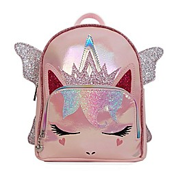 OMG Accessories Metallic Sugar Glitter Fairy Unicorn Queen Mini Backpack in Pink