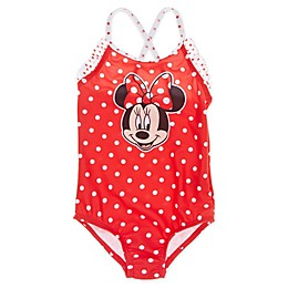 Disney® Minnie Mouse Dot 1-Piece Swimsuit in Red