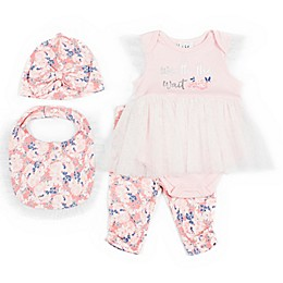 Nicole Miller New York 4-Piece Worth Wait Layette Set in Pink