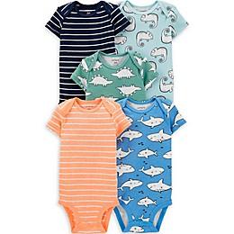 carter's® 5-Pack Animal Stripe Bodysuits