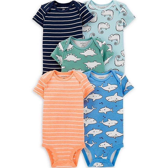 Alternate image 1 for carter's® 5-Pack Animal Stripe Bodysuits