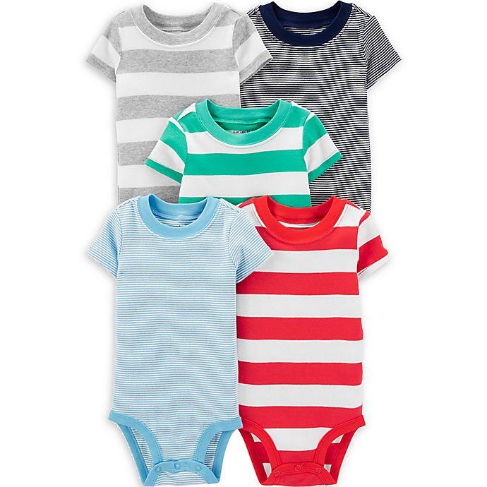 Alternate image 1 for carter's® 5-Pack Big and Little Stripe Bodysuits
