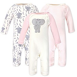 Touched by Nature® 3-Pack Elephant Organic Cotton Coveralls in Pink