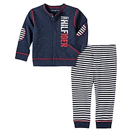 Tommy Hilfiger® 2-Piece Cardigan and Pant Set in Ivory/Grey