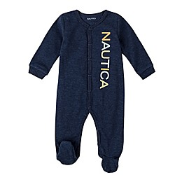 Nautica® Striped Footie in Navy