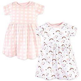 Luvable Friends® 2-Pack Unicorn Dresses in Pink