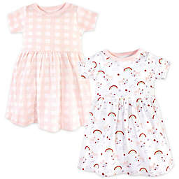 Luvable Friends® Size 6-9M 2-Pack Unicorn Dresses in Pink