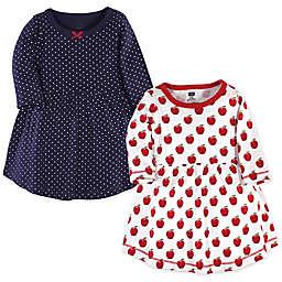 Hudson Baby® 2-Pack Apple Long Sleeve Dresses