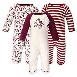 Touched by Nature® 3-Pack Berry Branch Organic Cotton Coveralls in Red