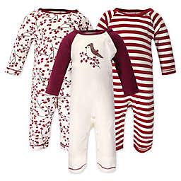 Touched by Nature® Size 3-6M 3-Pack Berry Branch Organic Cotton Coveralls in Red