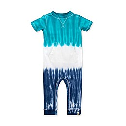 Burt's Bees Baby® Organic Cotton Tri Dip Dye Coverall in Blue