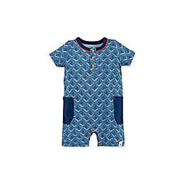 Burt's Bees Baby® Organic Cotton Maze Henley Romper in Blue