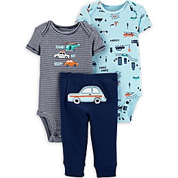 carter's® 3-Piece Cars Layette Set in Blue