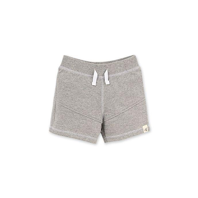 Alternate image 1 for Burt's Bees Baby® Organic Cotton Moto Short in Grey