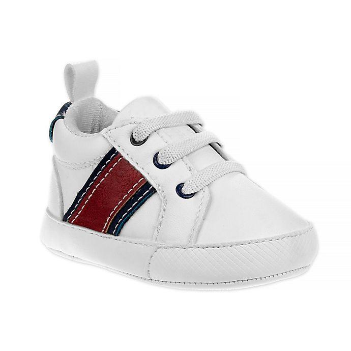 Alternate image 1 for Joseph Allen Stripe Sneaker in White/Red/Blue