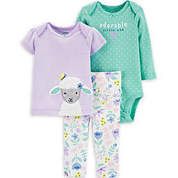 carter's® 3-Piece Sheep Layette Set in Lilac