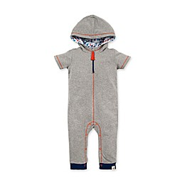 Burt's Bees Baby® Organic Cotton Hooded Coverall in Grey/Orange