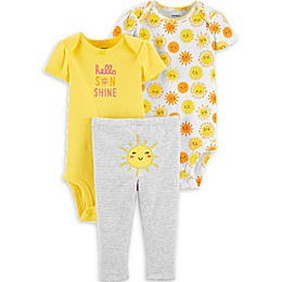 carter's® 3-Piece Sunshine Layette Set in Yellow