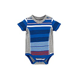 Burt's Bees Baby® Organic Cotton Multi-Stripe Bodysuit in Blue