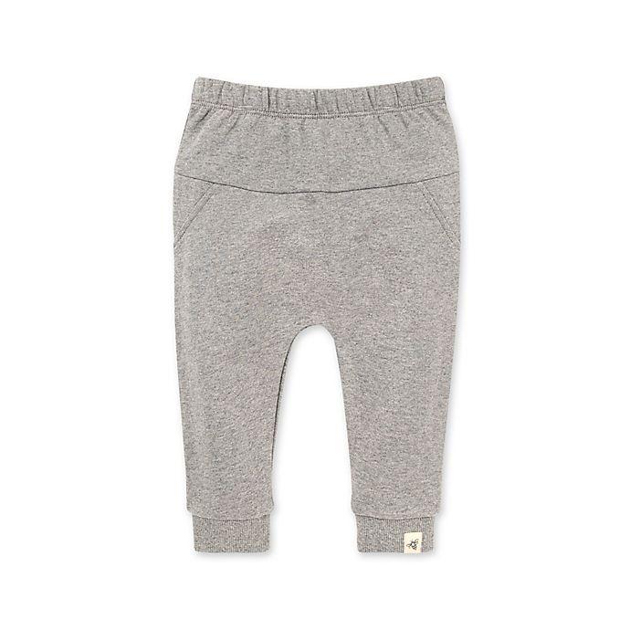 Alternate image 1 for Burt's Bees Baby® Organic Cotton Harem Jogger Pant in Grey