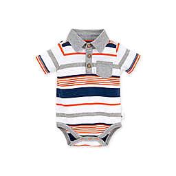 Burt's Bees Baby® Organic Cotton Multi-Stripe Polo Bodysuit in Blue