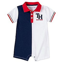Tommy Hilfiger® Polo Romper in Red/White/Blue