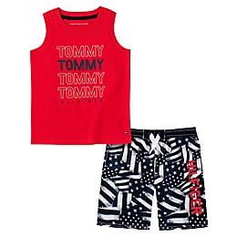 Tommy Hilfiger® 2-Piece Flag Tank Top and Short Set in Red/White/Blue
