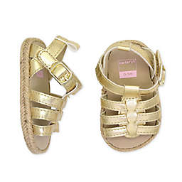 carter's® Metallic Espadrille Sandal in Gold
