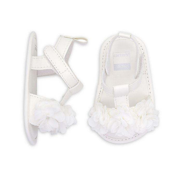 Alternate image 1 for carter's® White Plume Flowers Sandal