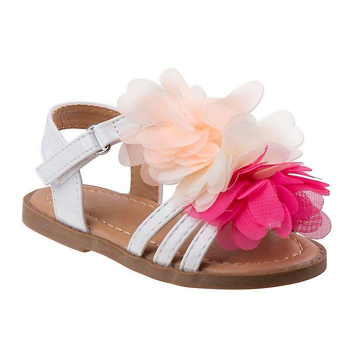 Alternate image 1 for Laura Ashley® Flower Sandal in White