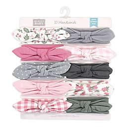 Hudson Baby® Gingham Size 0-24M 10-Pack Headbands