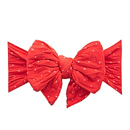 Baby Bling One Size Dang-Enormous-Bow Cherry Dot Knot Headband