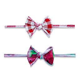 Baby Bling One Size 2-Pack Melon Picnic Mini Classic Knot Headbands