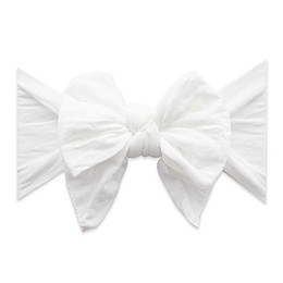 Baby Bling One Size Dang-Enormous-Bow White Dot Knot Headband