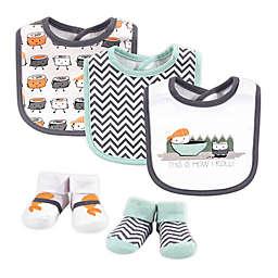 Hudson Baby® Size 0-9M 5-Piece Sushi Bib and Sock Set in Orange