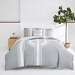 Now House by Jonathan Adler® Philippe 3-Piece Full/Queen Duvet Cover Set in Grey