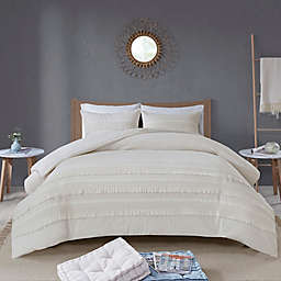 Madison Park Amaya 3-Piece King/California King Duvet Cover Set in Ivory