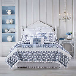 J. Queen New York™ Tessa 4-Piece King Comforter Set in Navy