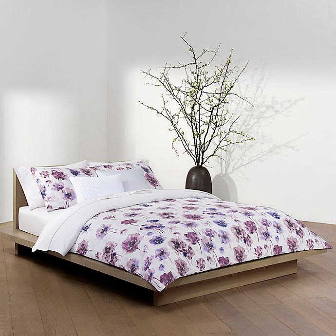 Alternate image 1 for Calvin Klein Watercolor Bloom 3-Piece Full/Queen Duvet Cover Set in Amethyst