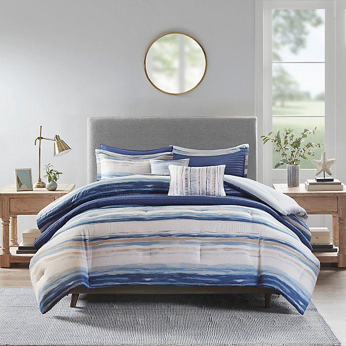 Alternate image 1 for Madison Park Marina 8-Piece Reversible Comforter & Coverlet Set