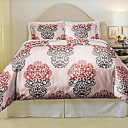 Pointehaven Cherry Blossom 3-Piece Duvet Cover Set