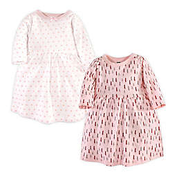Hudson Baby® Size 5T 2-Pack Winter Forest Long Sleeve Dresses in Pink