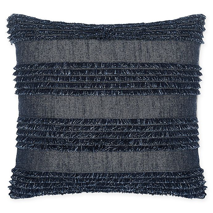 Terrific Calvin Klein Denim Fringe Square Throw Pillow In Indigo Andrewgaddart Wooden Chair Designs For Living Room Andrewgaddartcom
